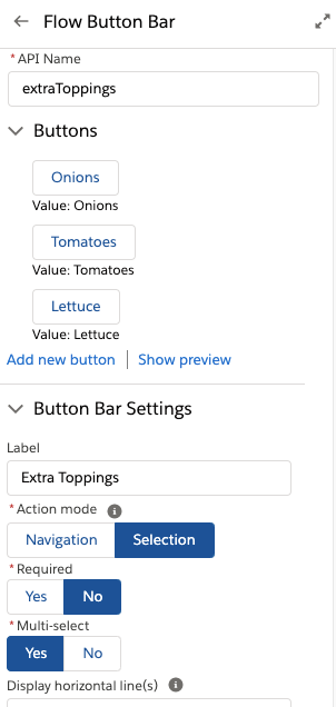 Configuration Panel using the new Custom Property Editor UI in Selection Mode
